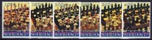 Burundi 1999  CHESS FIGURES Set of 6 values Perforated MNH