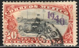 MEXICO E7, 20cts Motorcycle, 1940 Special Delivery USED. F-VF. (340)