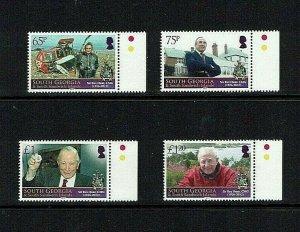 South Georgia: 2013 Sir Rex Hunt  Commemoration,  MNH set