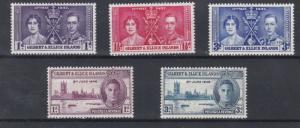 GILBERT & ELLICE 1937 - 46   CORONATION & VICTORY SETS  M H