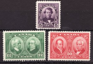 #146-48 - Canada - 1927 Historical Issue - MLH -VF- superfleas - cv$66