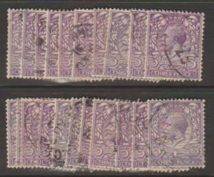 GB George V SG 423 Used -  selection of 20+ for shade study - see details