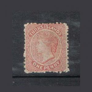 Turks 1867 Sc 1 FU (faint cancellaction)