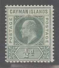 Cayman Islands 3 Mint F-VF LH