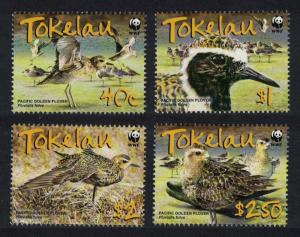 Tokelau Birds WWF Pacific Golden Plover 4v SG#382-385 SC#349-352 MI#368-371 SALE