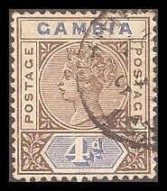 Gambia 25 Used VF HR