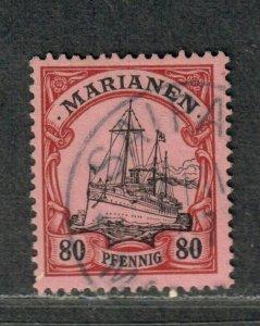 German Occ Mariana Islands Sc#25 Used/VF, Bothe BPP Signed, Cv. $25