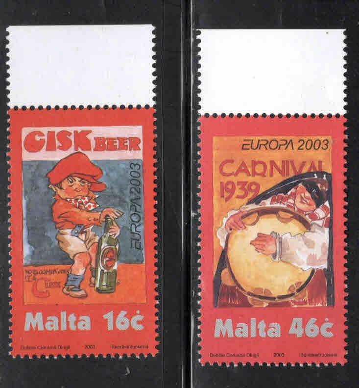 MALTA  Scott 1123-1124 MNH** 2002 Europa set