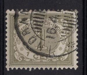 Netherlands Indies  #39  1902  used  1 ct  numbers