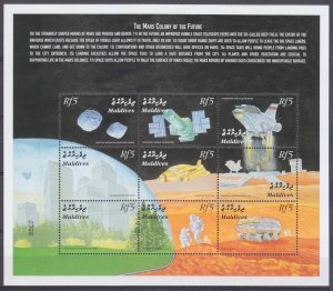 2000 Maldive Islands 3354-3362KL Future colonies on Mars 10,00 €