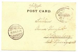 Seapost 1905 Fieldpost GSWA Eduard Woermann HWAL XXXVIII PPC Monrovia