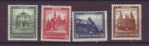 J25164 JLstamps 1931 germany set mh #b38-41 buildings