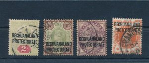BECHUANALAND 1897 VICTORIA NICE USED LOT INCLUDES THE 4d