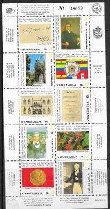 Venezuela  #1352 Miniature Sheet of 10  (MNH) CV $11.00