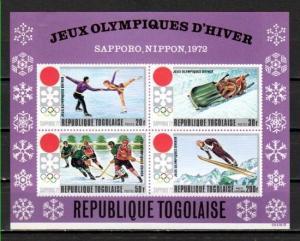 Togo, Scott cat. C165. Sapporo Winter Olympics s/sheet.