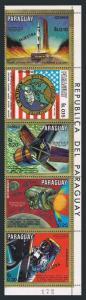 Paraguay 1276 ae-1280 Specimen,MNH. Apollo 1-13,Wernher Von Braun,rockets,