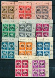 Israel 1960 PROVISIONAL COINS PLATE BLOCKS MNH