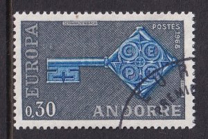Andorra French    #182  cancelled  1968  Europa  30c