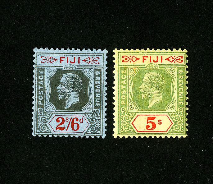 Fiji Stamps # 105-6 F-VF OG LH Set of 2 Scott Value $60.00
