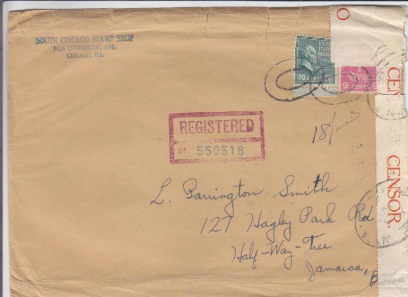 1940, Chicago, IL to Half-Way-Tree, Jamaica, Censored, See Remark (C2099)