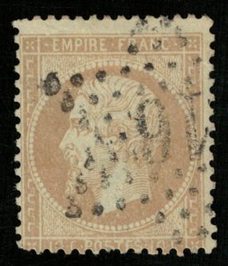 France, 1862-1871 Emperor Napoléon III, Perforated, MC #20 (4306-Т)