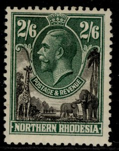 NORTHERN RHODESIA GV SG12, 2s 6d black & green, M MINT. Cat £25.