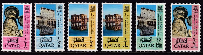 Qatar 1965 UNESCO Program to Save Historic Sites in Nubia (6) VF/NH