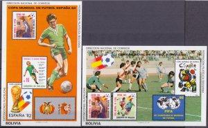 Bolivia. 1982. bl124-125. Soccer world cup. MNH.