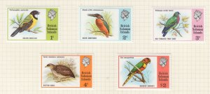 SOLOMON ISLANDS, 1975 Birds set of 5, lhm., $ 2.00 mnh.
