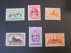 Samoa 1920 Sc 136-141 set MH