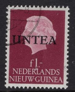 Netherlands West New Guinea UNTEA  #17 UN temporary authority 1962 cancelled 1g