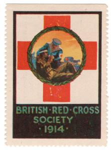 (I.B) Great War Cinderella : British Red Cross Charity Stamp