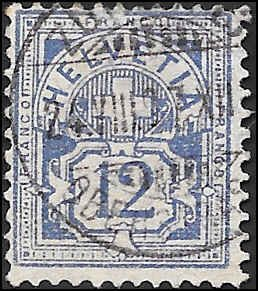 1882 SWITZERLAND  SC# 74a USED F SOUND CV $20.00