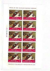 GB WALES Railway Stamps Block of 10 Talyllyn Railway{samwells} GG256