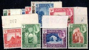 Aden 1942 SC 1-11, Khatiri set, mix of hinged & MNH.