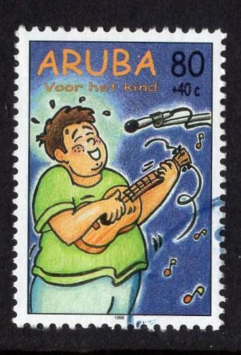 Aruba   #B54   used  1998 child welfare 80c