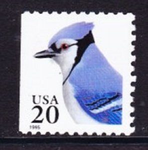 2485 Blue Jay F-VF MNH Single from booklet
