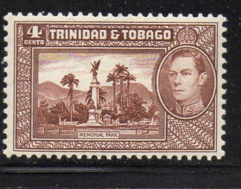 Trinidad & Tobago Sc 53 1938 Memorial Park & George VI stamp mint