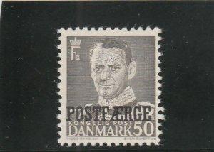 Denmark  Scott#  Q34  MH  (1950  Parcel Post)