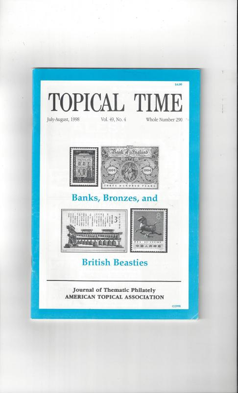 Topical Time Magazine JUL-AUG 1998  Number 290, ATA Journal