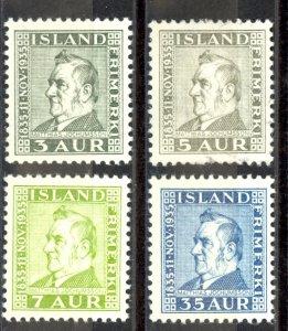 Iceland Sc# 195-198 MH 1935 Matthias Jochumsson