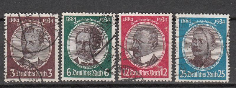 Germany - 1934 Lost colonies Sc# 432/435 (9706)