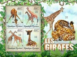 Z08 TG190211a TOGO 2019 Giraffes MNH ** Postfrisch