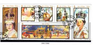 Isle of Man Sc 986 2003 50th Anniv Coronation stamp set used