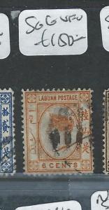 LABUAN   (P0108B)  QV   CAMEO  6C   SG 6   VFU