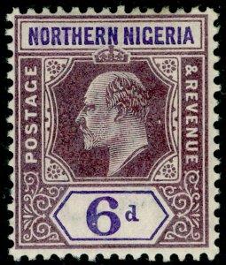 NORTHERN NIGERIA SG15, 6d dull purple & violet, LH MINT. Cat £20. WMK CA