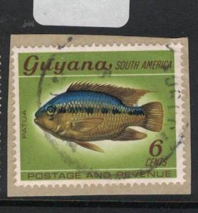 Guyana Fish Aurora Town Cancel VFU SC 7dua) VFU (7dua)