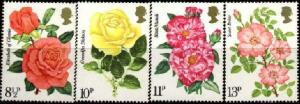 Great Britain MNH 786-9 Roses Flowers