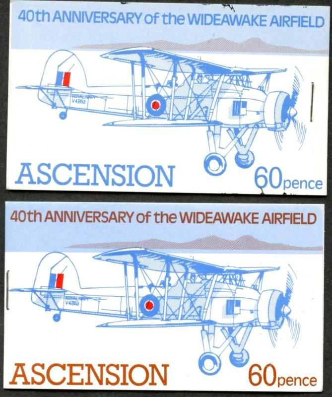 ASCENSION Sc#309-310 Booklets of 4 each 1982 Wideawake Airport OG Mint NH