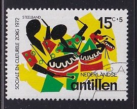 Netherlands Antilles  #B116  cancelled  1972  steel band 15c